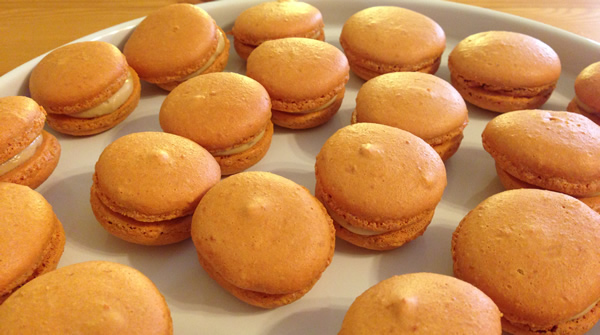 Salted caramel macarons